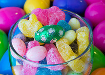 Easter candies in a jar