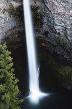 waterfall over a cliff