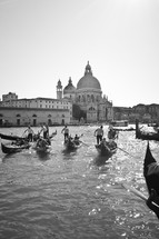 gondolas on the canal in Venice