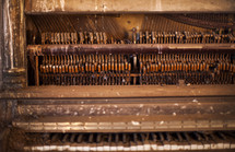 Antique piano.