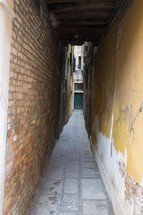 narrow covered alley