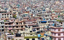 crowded city in Nepal