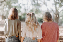 three women standing together