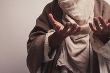 Joseph with open palms