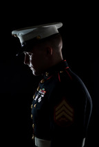 side profile of a marine