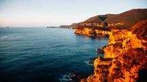 sea cliffs along a shore
