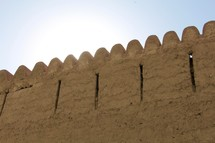 clay fortress wall