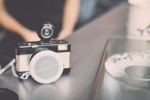 vintage camera on a table