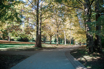 path in a park in fall