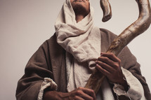 Joseph holding his staff
