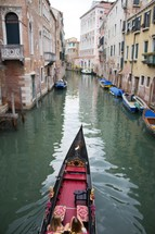 gondola on the canals in Venice