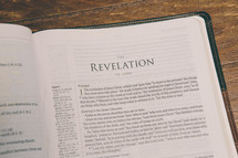 Bible opened to Revelation