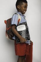 a boy child ready for school