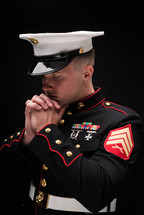 a praying marine