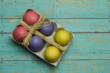 Easter Eggs in a carton