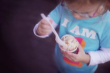 child eating ice-cream