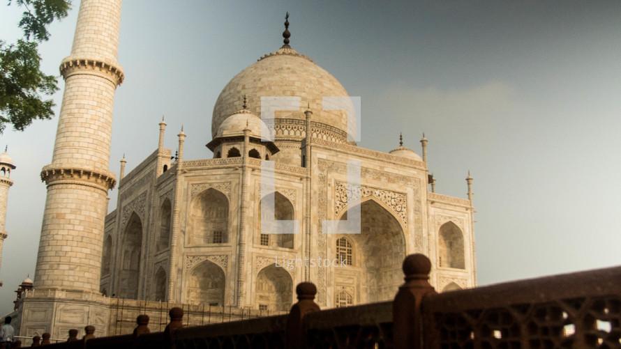 Taj Mahal and fence