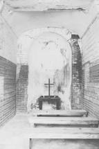 interior of a small chapel