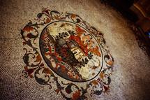 tile mosaic emblem