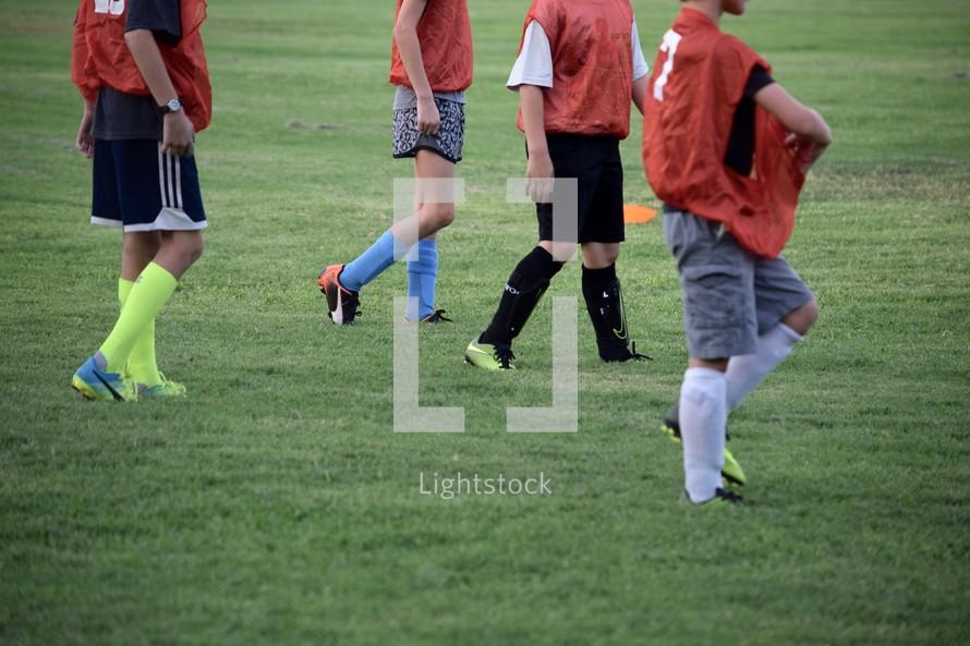 kids at soccer practice