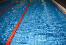 lanes in a swimming pool
