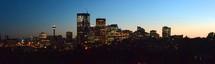 Calgary, Alberta skyline at night