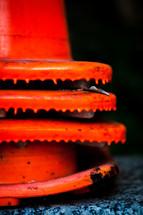 orange caution cones
