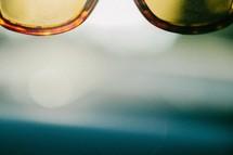 lens of sunglasses