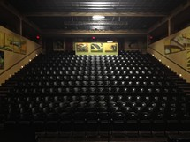 Empty theatre seats
