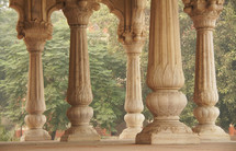 Ancient columns in an Indian palace