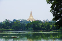The Shwedagon Pagoda in Yangon, Myanmar