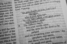 give thanks scripture