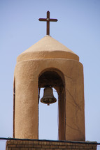 Church bell tower on an old orthodox church, Erbil, Kurdistan, Iraq