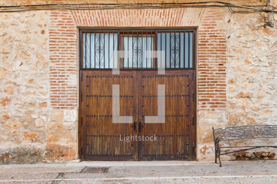 wooden exterior doors in Nuevo Baztan, Spain