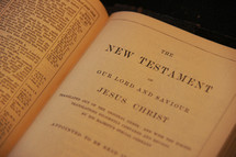 Open Bible in the New Testament