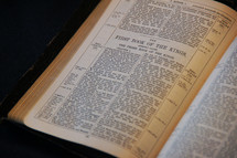 Bible open to the First Book of the Kings, commonly called the Third Book of the Kings