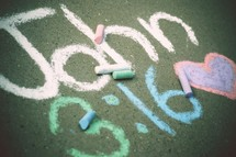 John 3:16 in chalk