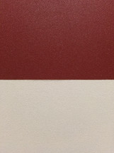 Color contrast on a red and cream colored wall