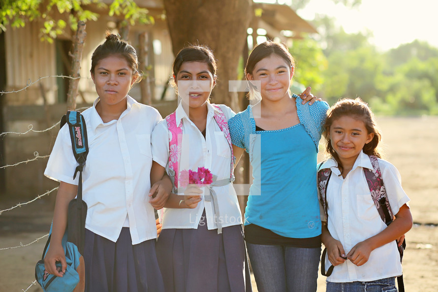 girl students posing for a picture