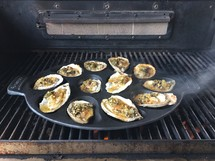 oysters on a grill
