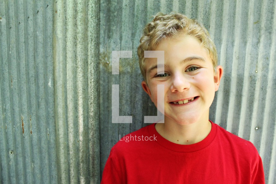 a smiling boy child