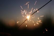 sparking sparkler