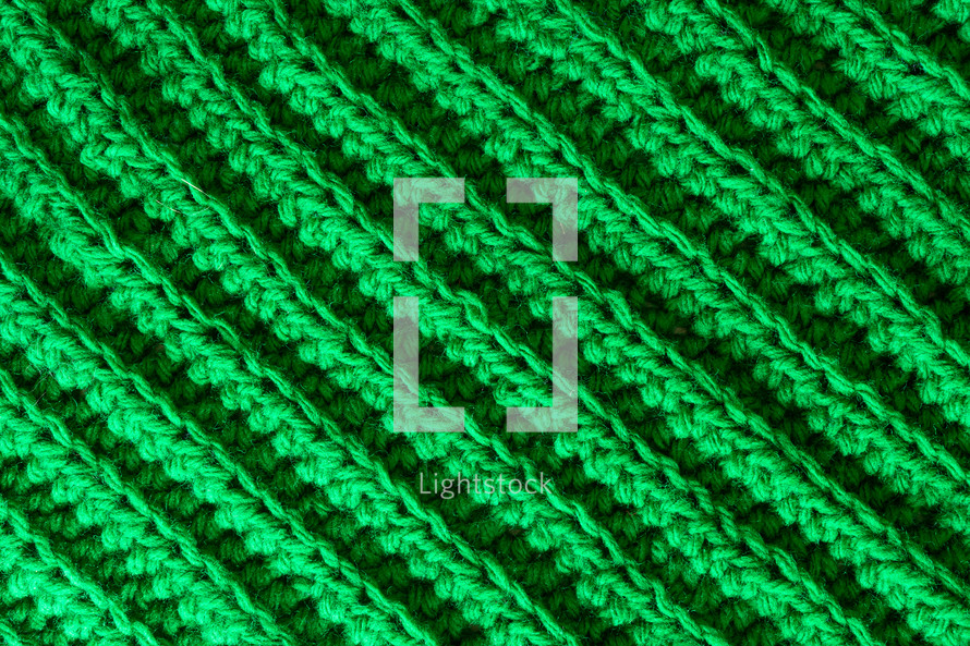 green knit background