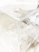 clear square glass block
