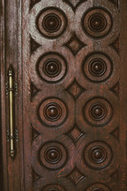 wood doors closeup