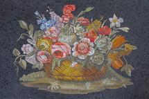 mosaic tile flower basket
