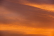 Sky at sunset.