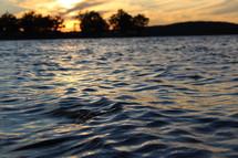 sunlight on water surface
