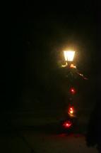 glow of a street light