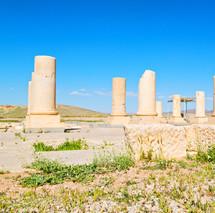 columns at a ruins site